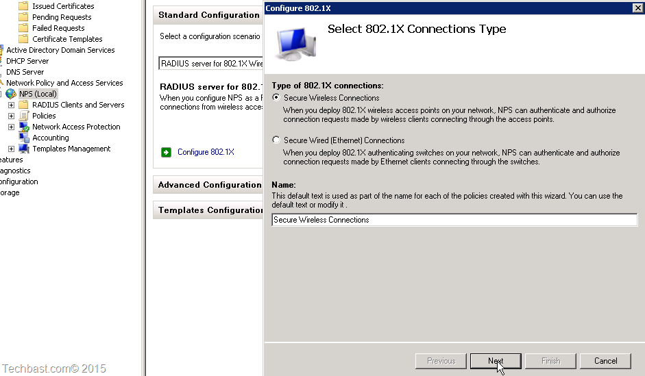 Setup radius server 2008 r2 for wireless(WPA&WPA2-Enterprise