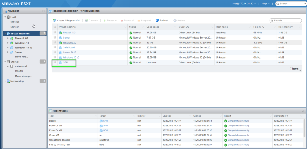 Guide to installing Sophos Firewall Management on VMWare