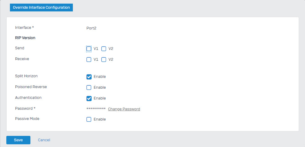 Sophos XG Firewall: How to configure Routing Information Protocol