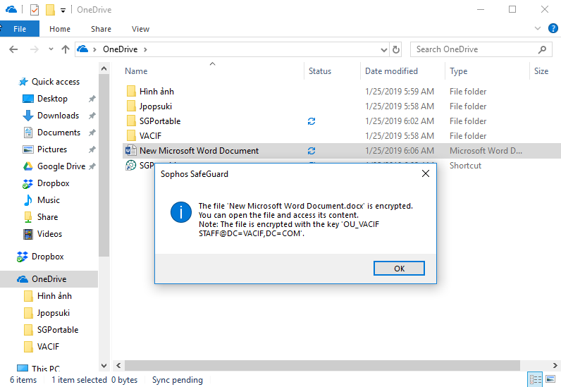Sophos SafeGuard : How to install Location-Based File